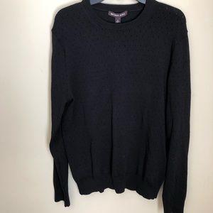 Michael Kors black knit sweater NWT